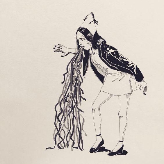 Ink doodle.  #illustration #drawing