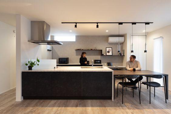キッチン シンプル ブラック キッチンボード サンプル