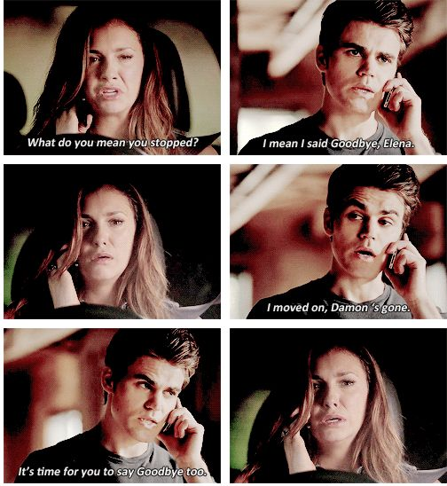 S6E01 I usually like stefan but this season I hate him and I hope that changes and he finds his personality again because he's the one who cares and would do anything for the people he loves .I want that stefan back