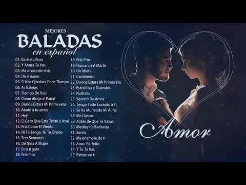 Musica Romantica En Español De Los 80 y 90 Exitos - Las Mejores Músicas  Románticas D… | Musica romantica en español, Musica romantica, Baladas  romanticas en español