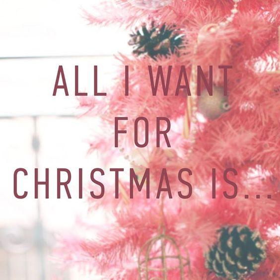 All i want, Christmas holidays and Karaoke on Pinterest