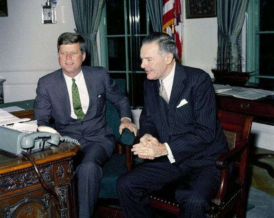 President Kennedy and Henry Cabot Lodge in the Oval Office