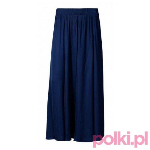 Spódnica maksi granatowa, Calzedonia #fashion #polkipl #bebeauty #moda #style #trendy