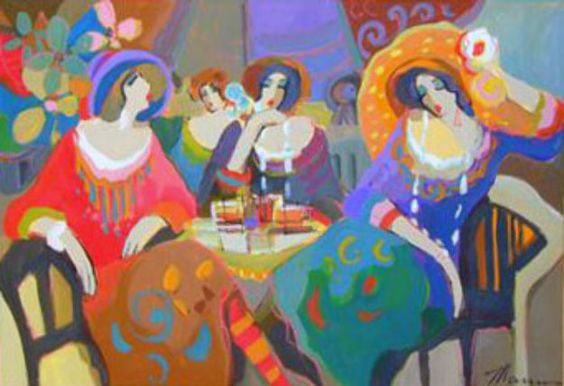 Untitled Cafe Ladies 2007 34x50 by Isaac Maimon