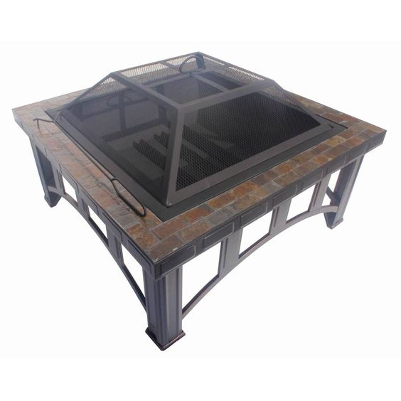 Garden Treasures 30 In W Rubbed Bronze Steel Wood Burning Fire Pit Fp11043b Gardens Fire Pits
