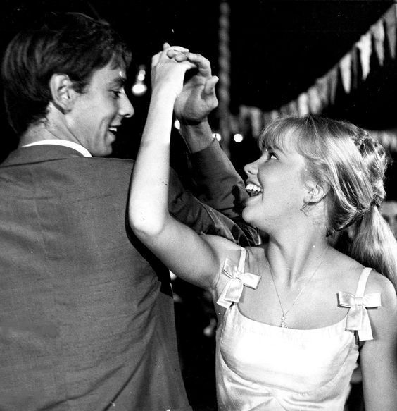 Peter McEnery and Hayley Mills dancing in The Moon Spinners, (1964):