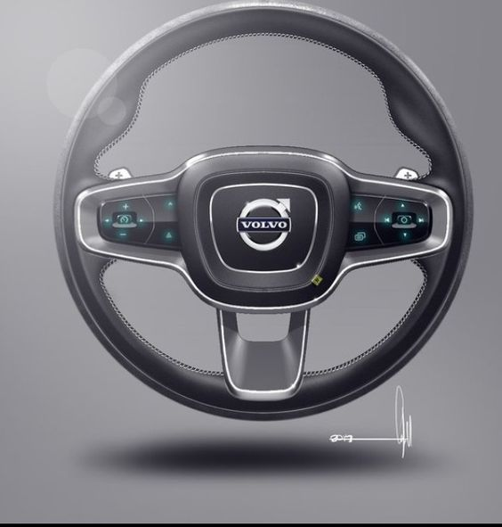 Volvo Concept Coupe | Interior  | Steering Wheel Design Sketch