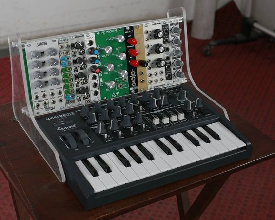 definitely going to give this custom modular rack for the arturia microbrute i can build this. Black Bedroom Furniture Sets. Home Design Ideas