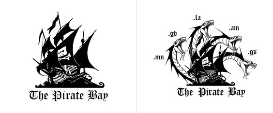 Yesterday, the Stockholm District Court seized the .se domain of The Pirate Bay, a popular torrent site with plenty of copyrighted material available for download. A mere hours later, The Pirate Bay re-launched in a handful of new top-level domains and updated to a new logo that includes the image of a Lernaean Hydra — which, as Greek mythology has it, for each head you cut off it, it grow two more.