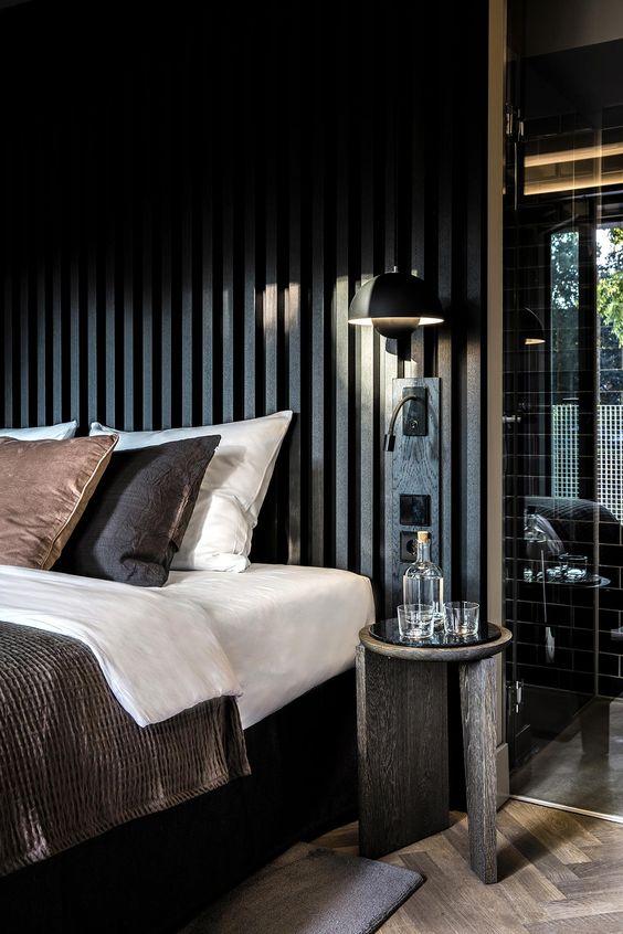 slaapkamer met hotel uitstraling