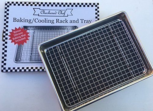 Checkered Chef Quarter Sheet Pan And Rack Set 9 5 X 13 Inches
