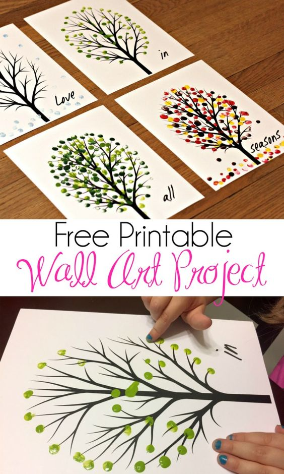 Printable Seasons Wall Art Project