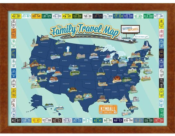 Personalized Family Travel Quest Map – Family Travel Map