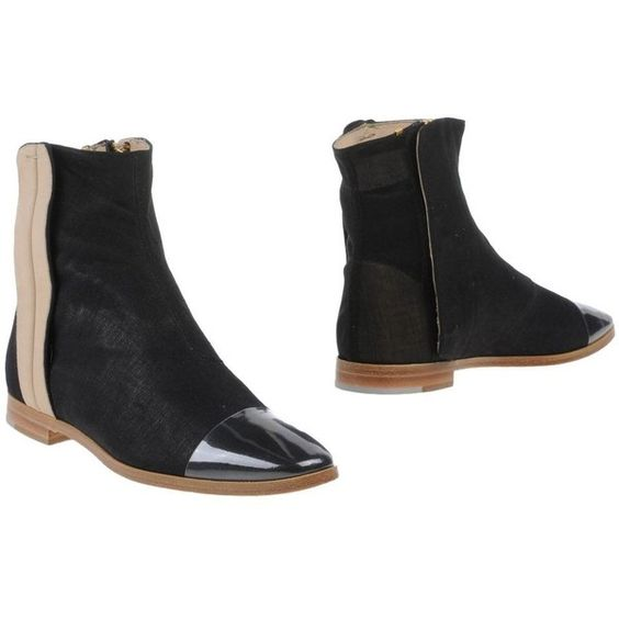 Zoe Lee Ankle Boots (€170) ❤ liked on Polyvore featuring shoes, boots, ankle booties, black, short black boots, black bootie boots, black boots, leather boots and black ankle booties