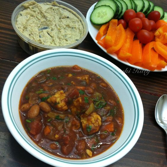vegan tempeh chili free recipe