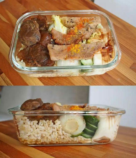 29.像這樣把午餐的菜直接帶便當,就可以當成一樣是營養均衡的晚餐