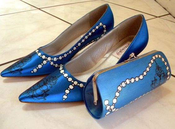 Wedding Shoes and clutch bag set Pearls and by norakaren on Etsy, $305.00