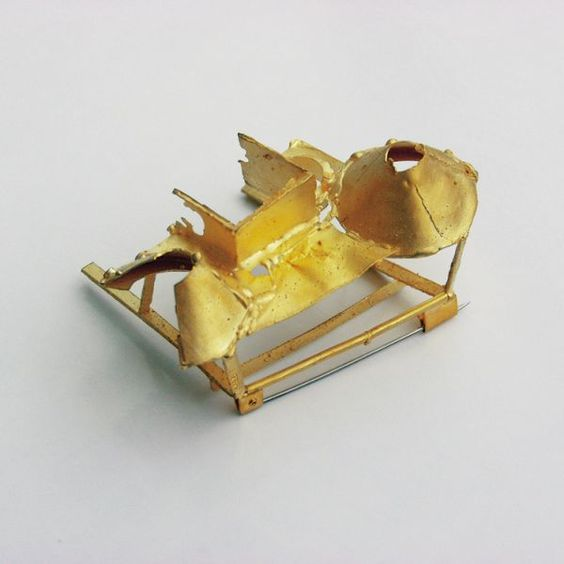 """""""Wreck"""" by Andrea Wipperamnn. 2002. Gold."""