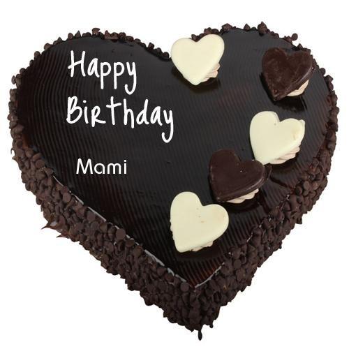 Birthday Wishes Cake Chocolate Heart Cake With Name Dengan Gambar