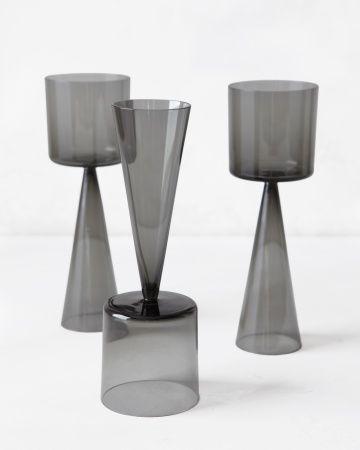 dual-purpose wine glasses.