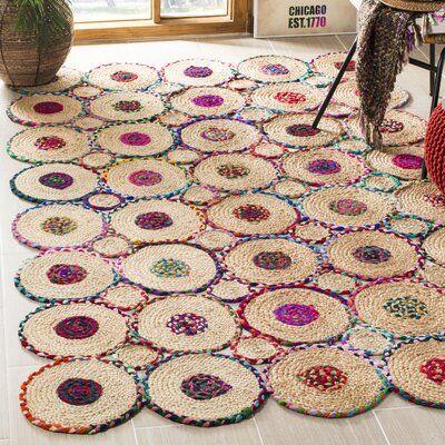 Bungalow Rose Ashlyn Handmade Flatweave Red Natural Area Rug In 2021 Braided Diy Rag Rugs