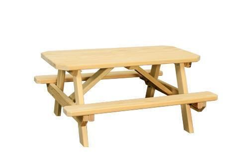 Amish Pine Wood Child S Picnic Table Kids Picnic Table Outdoor