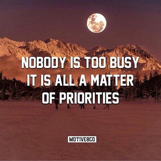 Set your priorities. Via  @motive8co by motivationmafia