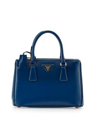 prada red tote bag - Saffiano Vernice Mini Double-Zip Crossbody Bag, Blue (Cobalto) by ...