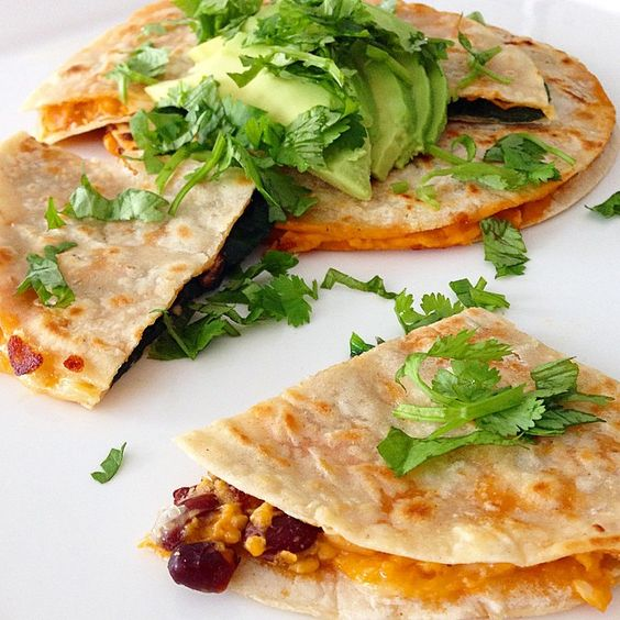 """Another #iqs8wp recipe, this time it's vegetarian Sweet Potato and Black Bean Quesadillas!! I love the Mexican flavours and the fact that these are…"""