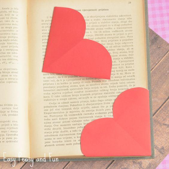 Heart Corner Bookmarks: