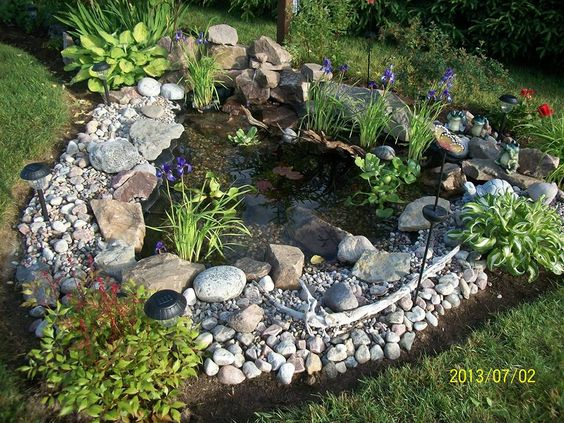 Construction on pinterest for Bassin eau jardin