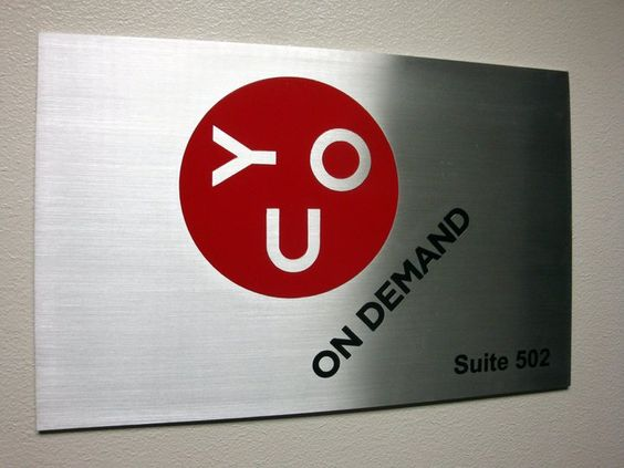 Office lobby wall sign NYC - We specialize in custom office signage in New York, NY. Visit our website below to contact us for a free consultation! http://www.SignsVisual.com
