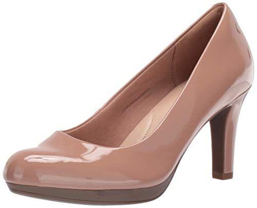 Ladies Clarks Heeled Court Shoes Adriel Viola