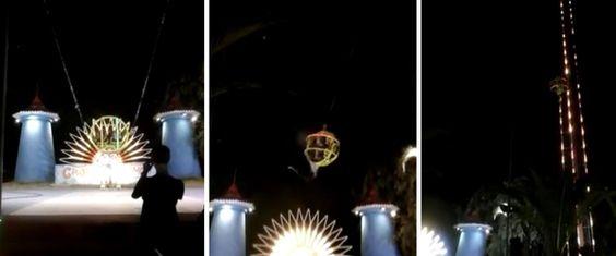 O incidente aconteceu no parque de diversões temático Luna Park de Cap d'Agde, em Herault, no sul de França. Dentro da 'bola', que simula o efeito de uma fisga, estava um casal que ficou durante cerca …