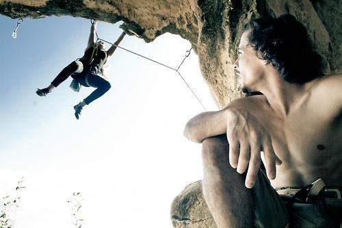 Poner los pies está sobrevalorado ;) #escalada #bulder