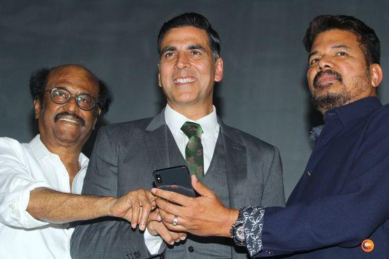 Rajinikanth, Akshay Kumar at 2.0 Movie Trailer Launch