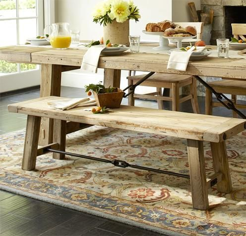 küchenbank esstisch altholz pottery barn design | interior design, Esstisch ideennn