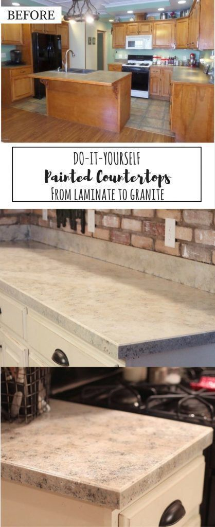 Painted Countertops How-To: From Laminate to Granite