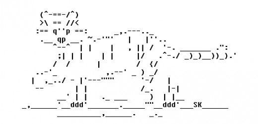 ascii text art 4th of july