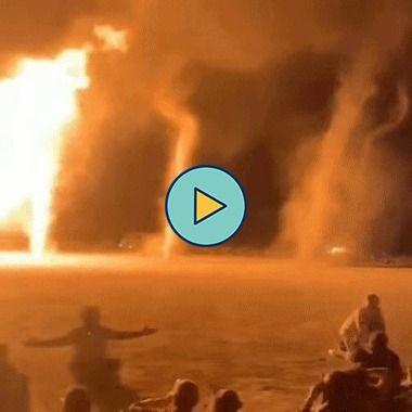 tornados de fogo sai de um incêndio