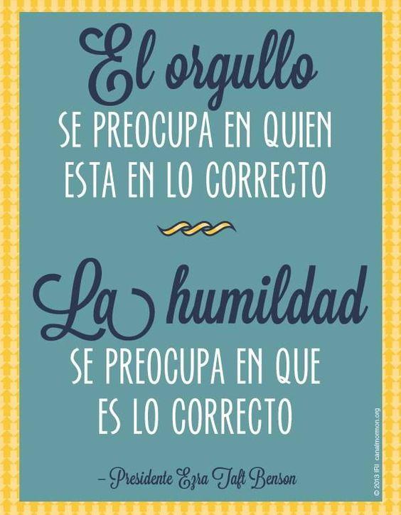 Orgullo, palabras, frases, amor, humildad: