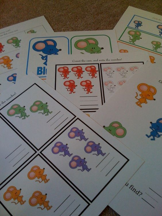 Preschool Printables: Mouse Paint -- not free
