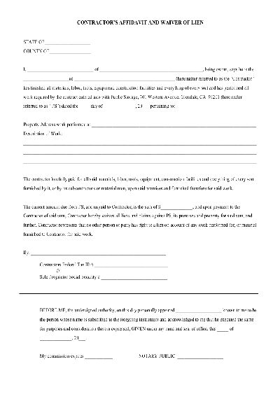 Lien Waiver PDF form, Free download Other Pinterest Pdf - liability waiver template