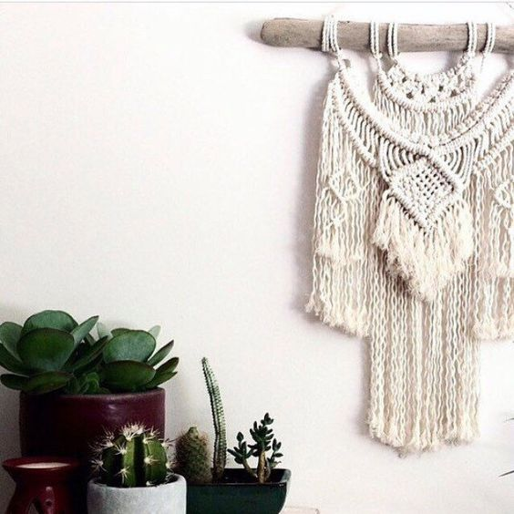Macrame wall hanging pattern on Etsy www.homevibes.com.au