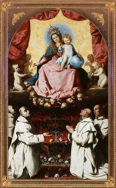 La Virgen del Rosario venerada por Cartujanos. Museo Nacional de Poznan, Polonia.: