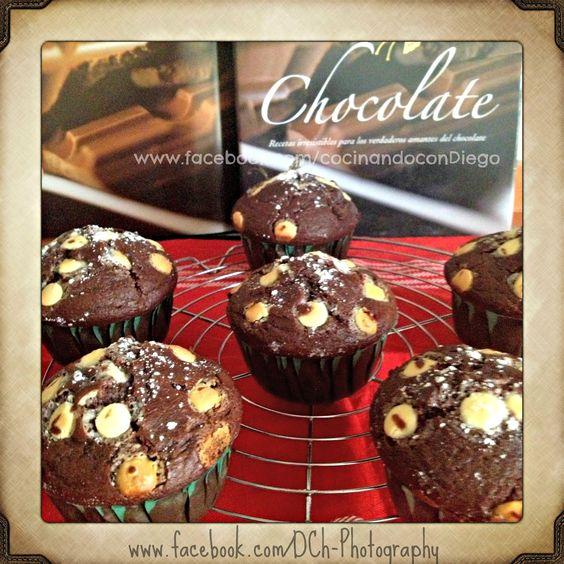 Deliciosos muffins de chocolate