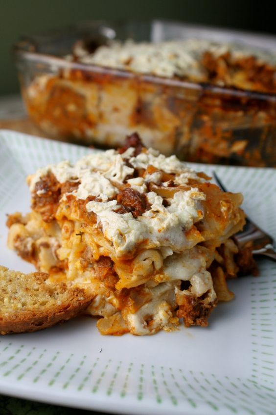 Lasagne w/ gluten and dairy free options
