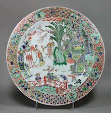 Chinese famille verte dish, Kangxi (1662-1722), de