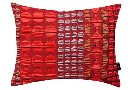 Rivchic 17x14 Pillow, Red on OneKingsLane.com