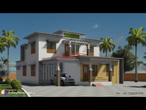 2170 Sqft Modern Flat Roof House Design By Spaceone Design